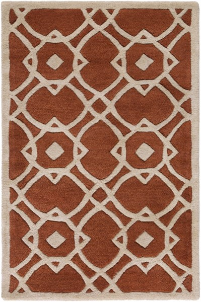Goa Beige Rust New Zealand Wool Area Rug - 24 x 36 G5105-23