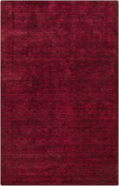 Gaia Burgundy Viscose Wool Area Rug - 60 x 96 GAI1000-58