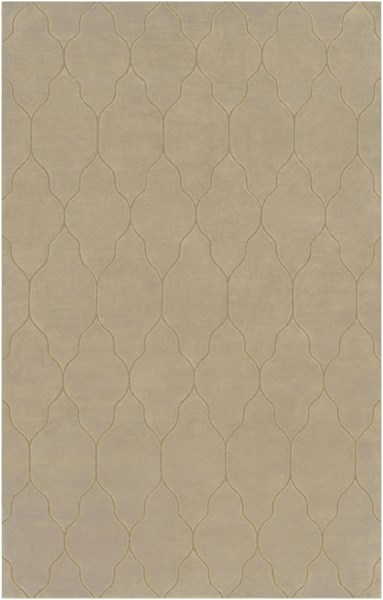 Gates Light Gray Mocha Wool Area Rug - 60 x 96 GAT1003-58