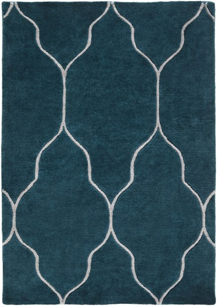Gates Teal Light Gray Wool Area Rug - 24 x 36 GAT1013-23