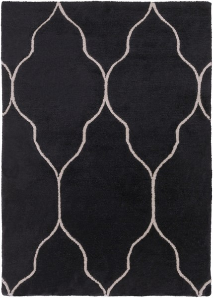 Gates Black Light Gray Wool Area Rug - 24 x 36 GAT1014-23