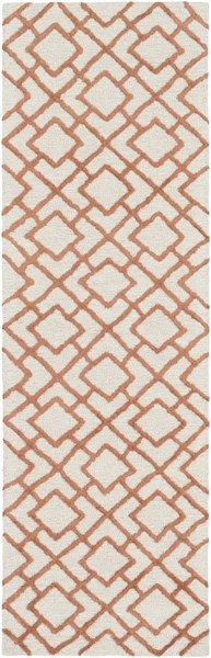 Gable Contemporary Ivory Beige Cotton Viscose Runner (L 96 X W 30) GBL2000-268