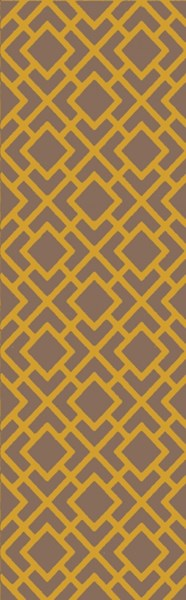 Gable Gold Gray Taupe Cotton Viscose Runner - 30 x 96 GBL2001-268