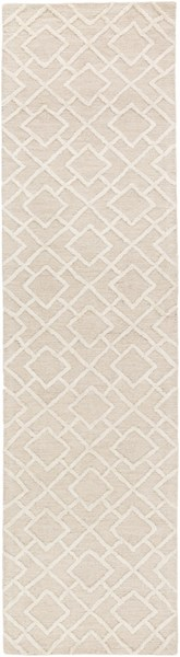 Gable Contemporary Ivory Beige Cotton Viscose Runner (L 120 X W 30) GBL2002-2610