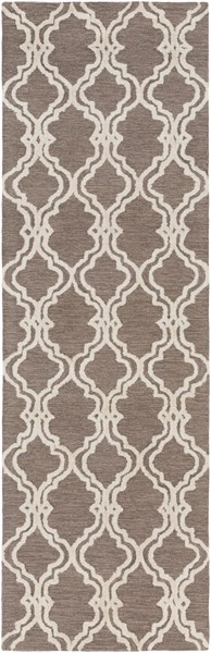 Gable Ivory Gray Taupe Cotton Viscose Runner - 30 x 96 GBL2003-268