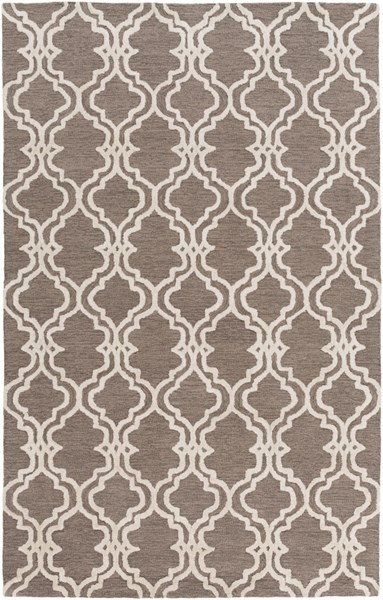 Gable Ivory Gray Taupe Cotton Viscose Area Rug - 60 x 90 GBL2003-576