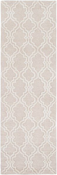 Gable Ivory Beige Cotton Viscose Micro Looped Runner (L 96 X W 30) GBL2004-268