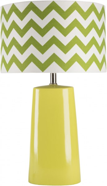 Gabby Contemporary Green Ceramic Fabric Table Lamp (W 15 X H 24) GBLP-002