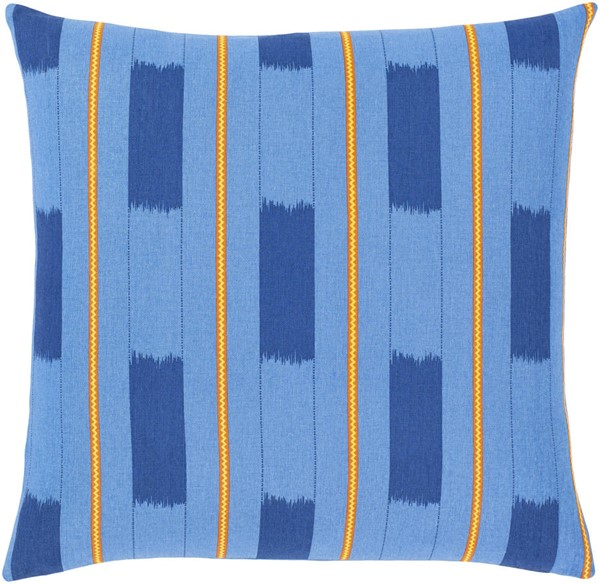 Surya Global Brights Blue Down Pillow - 18x18 GBT004-1818D
