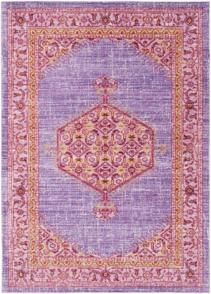 Surya Germili Bright Purple Pink Yellow Area Rug - 36 x 24 GER2309-23