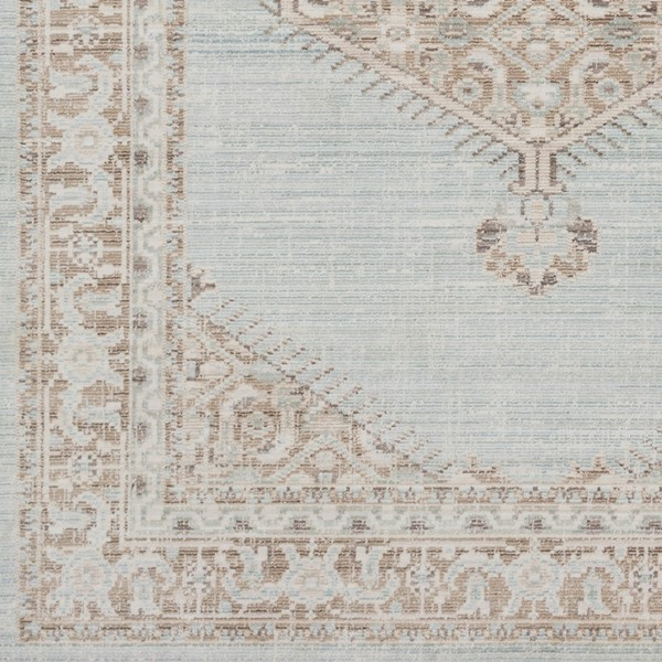 Surya Germili Sea Foam Camel Cream Sample Area Rug - 18 x 18 GER2310-1616