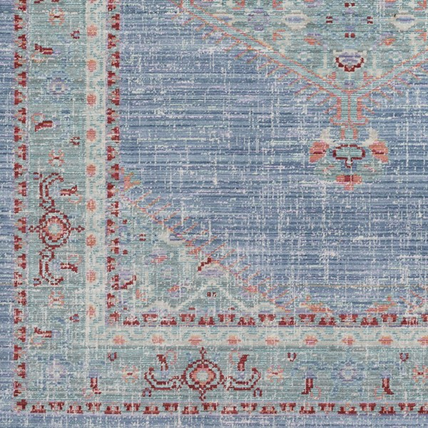 Surya Germili Bright Blue Mint Pink Sample Area Rug - 18 x 18 GER2311-1616