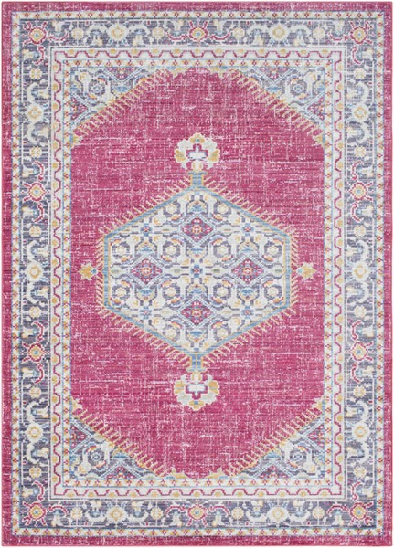 Surya Germili Bright Pink Yellow Blue Area Rug - 123 x 94 GER2312-710103