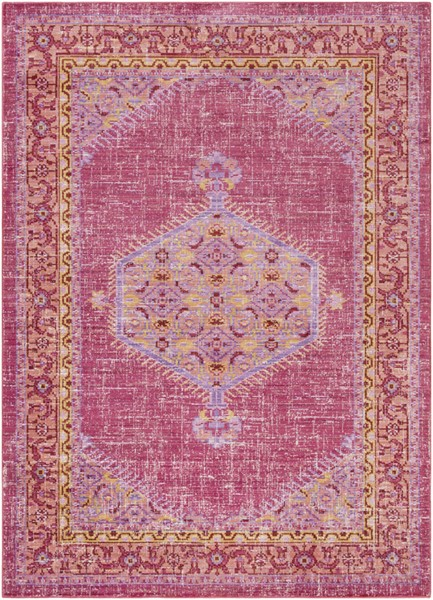 Surya Germili Bright Pink Orange Yellow Area Rug - 90 x 63 GER2313-5376