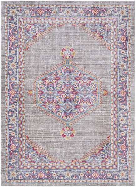 Surya Germili Taupe Bright Pink Yellow Area Rug - 36 x 24 GER2314-23