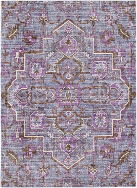 Surya Germili Bright Purple Violet Dark Brown Area Rug - 123 x 94 GER2317-710103