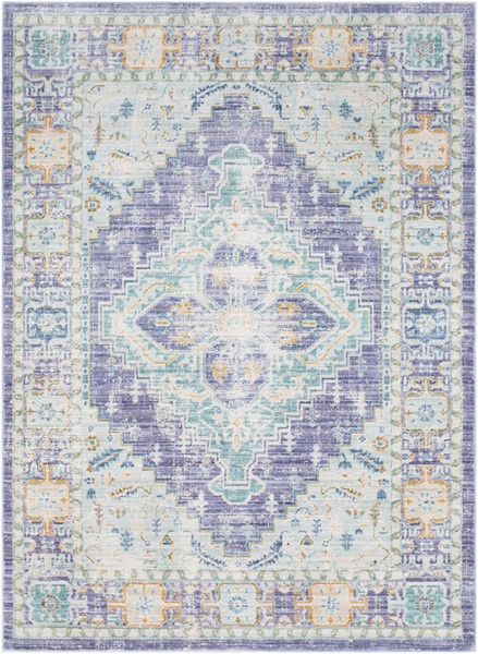 Surya Germili Bright Purple Yellow Blue Area Rug - 67 x 47 GER2321-31157
