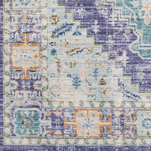 Surya Germili Bright Purple Blue Coral Mint Yellow Sample Area Rug GER2321-1616-RUG-VAR