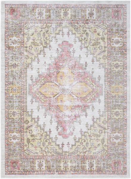 Surya Germili Bright Yellow Camel Dark Brown Area Rug - 157 x 108 GER2323-9131
