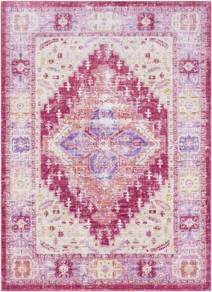 Surya Germili Bright Pink Yellow Cream Area Rug - 67 x 47 GER2324-31157