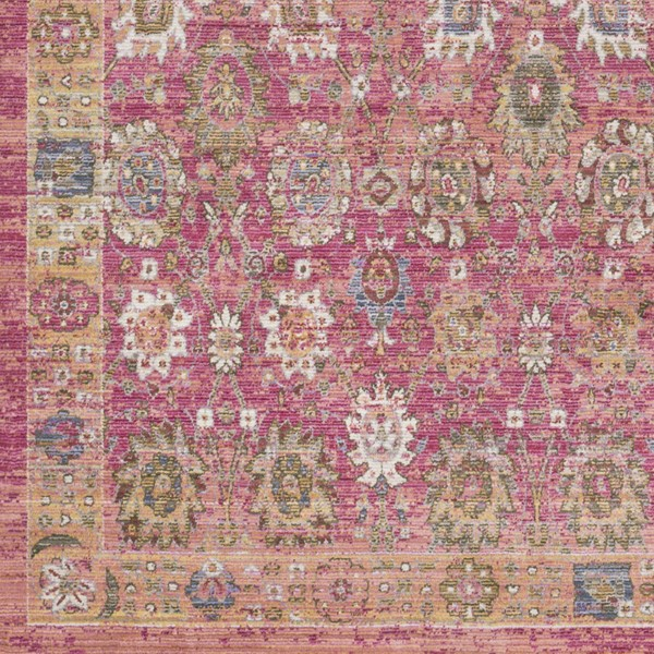 Surya Germili Bright Pink Yellow Dark Blue Sample Area Rug - 18 x 18 GER2326-1616