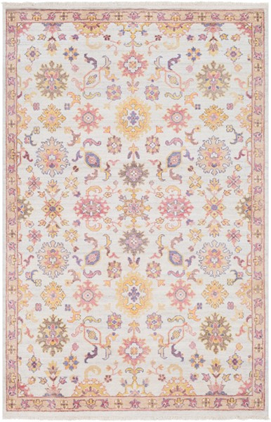 Surya Gorgeous Bright Pink Cream Yellow Area Rug - 36 x 24 GGS1001-23