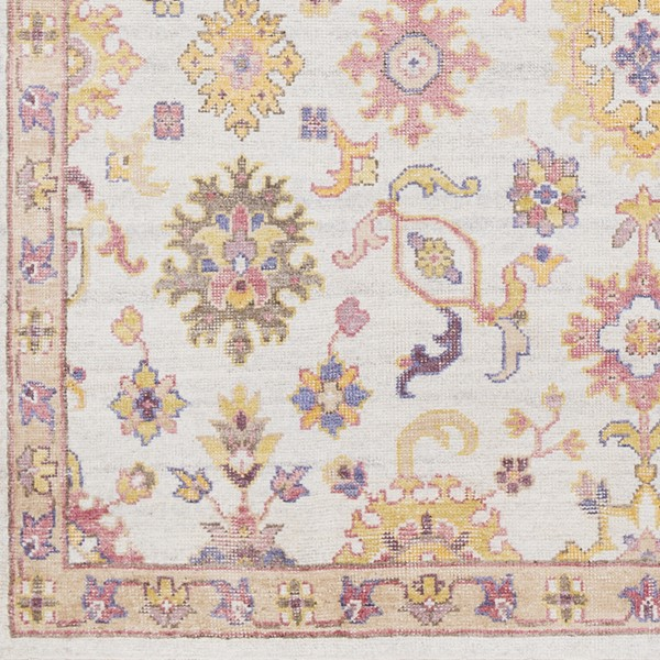 Surya Gorgeous Bright Pink Cream Yellow Sample Area Rug - 18 x 18 GGS1001-1616