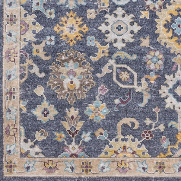 Surya Gorgeous Charcoal Beige Bright Yellow Sample Area Rug - 18 x 18 GGS1002-1616