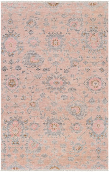 Surya Gorgeous Beige Pale Pink Medium Gray Area Rug - 132 x 96 GGS1005-811