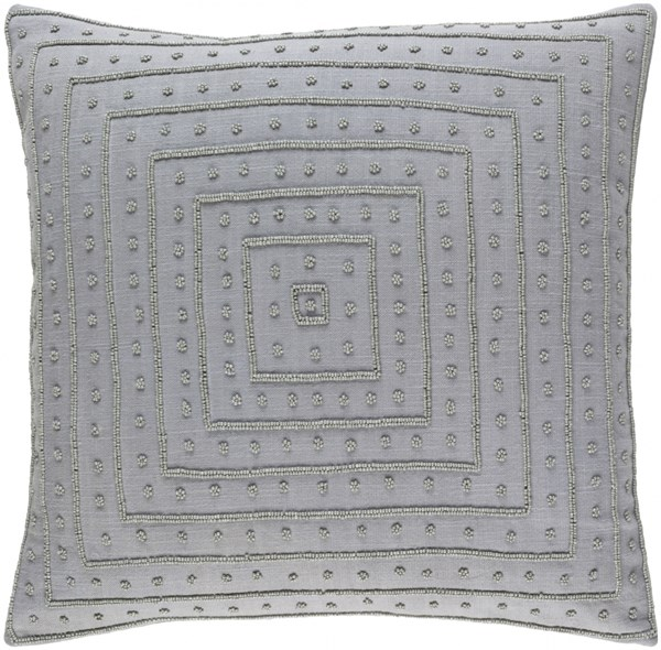 Gisele Gray Poly Cotton Throw Pillow - 20x20x5 GI004-2020P