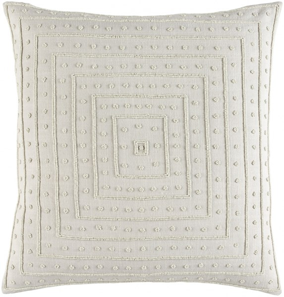 Gisele Light Gray Down Cotton Throw Pillow - 22x22x5 GI006-2222D