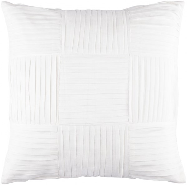 Gilmore Pillow with Poly Fill in Ivory - 18 x 18 x 4 GL001-1818P
