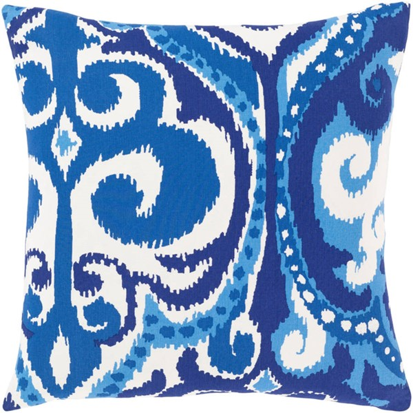 Surya Global Blues Cotton Poly Pillow - 18x18 GLB003-1818P