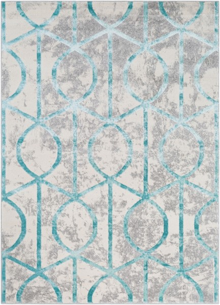 Surya Glimmer Pale Blue Cream Light Gray Area Rug - 87 x 63 GLI1016-5373