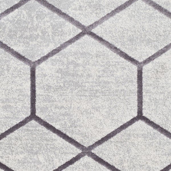Surya Glimmer Medium Gray Cream Area Rug GLI1022-1616-RUG-VAR
