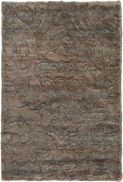 Galloway Contemporary Charcoal Ivory Chocolate Jute Area Rugs 12825-VAR1