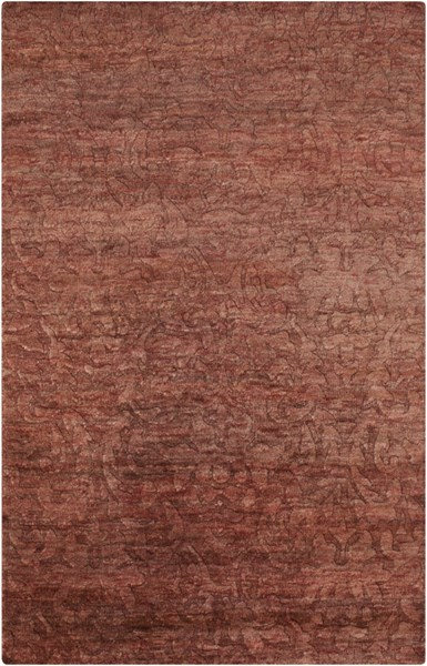 Galloway Burgundy Ivory Chocolate Jute Persian Area Rug (L 96 X W 60) GLO1002-58