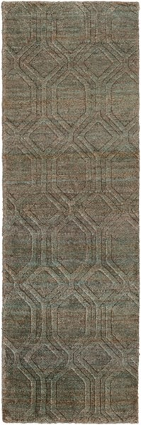 Galloway Teal Ivory Chocolate Jute Runner - 30 x 96 GLO1004-268