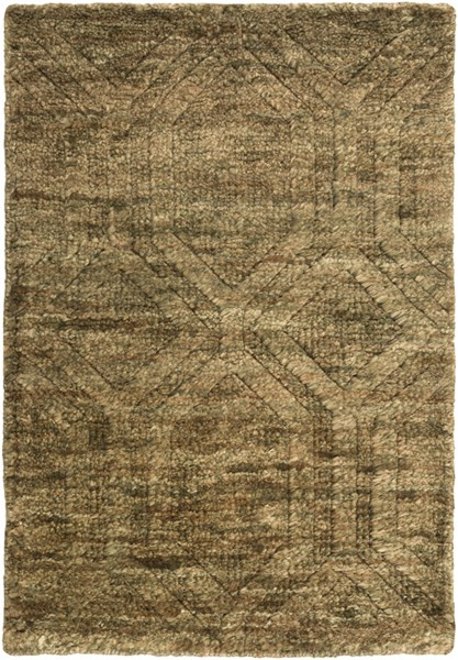 Galloway Olive Ivory Chocolate Jute Area Rug (L 36 X W 24) GLO1005-23