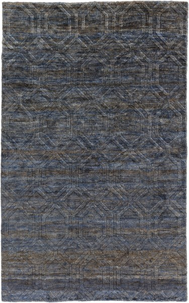 Galloway Navy Ivory Chocolate Jute Area Rug - 60 x 96 GLO1007-58