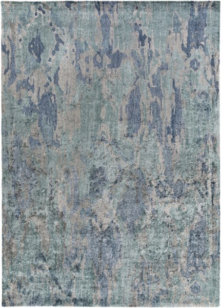 Gemini Teal Cobalt Light Gray Bamboo Silk Area Rug - 96 x 132 GMN4058-811