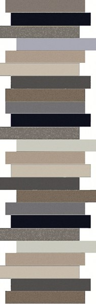 Geometrix Taupe Light Gray Charcoal Taupe Wool Runner - 30 x 96 GMX7011-268