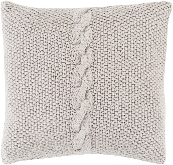 Genevieve Gray Poly Cotton Throw Pillow - 18x18x4 GN002-1818P