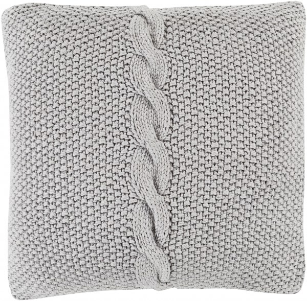 Genevieve Ivory Poly Cotton Throw Pillow - 22x22x5 GN003-2222P