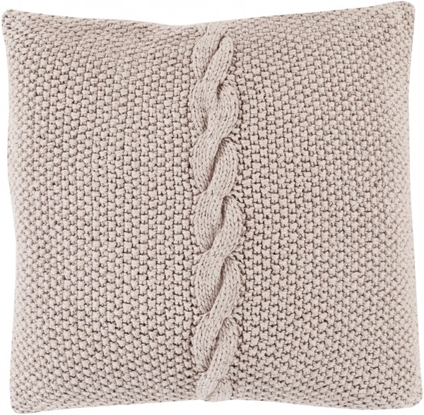 Genevieve Dark Gray Poly Cotton Throw Pillow - 22x22x5 GN005-2222P