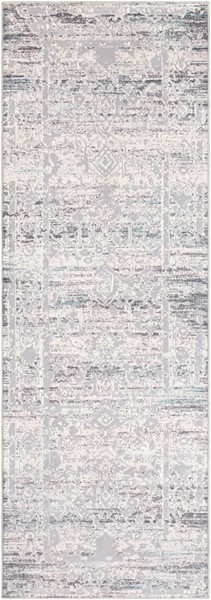 Surya Genesis Silver Gray White Traditional Runner - 90 x 31 GNS2300-2776