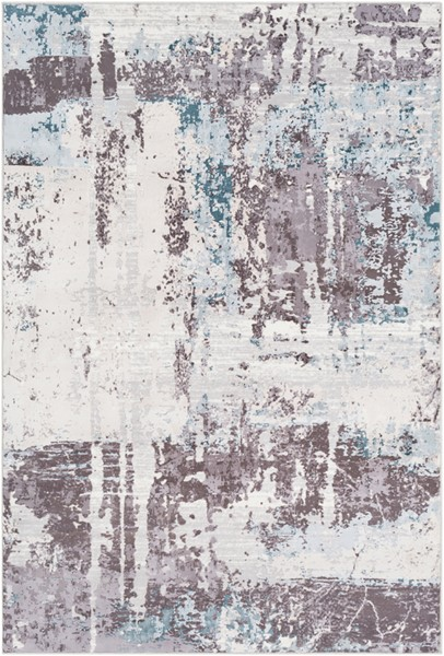 Surya Genesis White Pale Blue Denim Area Rug - 123 x 94 GNS2301-710103