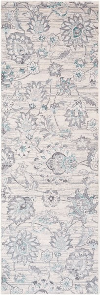 Surya Genesis White Pale Blue Medium Gray Runner - 90 x 31 GNS2303-2776
