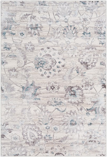 Surya Genesis White Pale Blue Medium Gray Area Rug - 67 x 47 GNS2303-31157