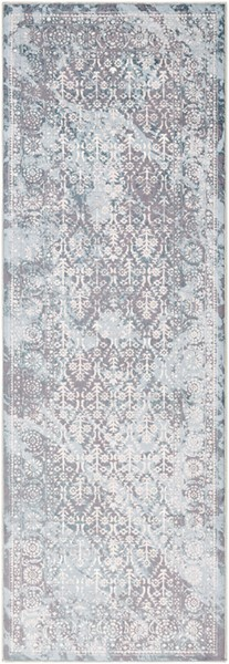 Surya Genesis White Medium Gray Denim Runner - 90 x 31 GNS2304-2776